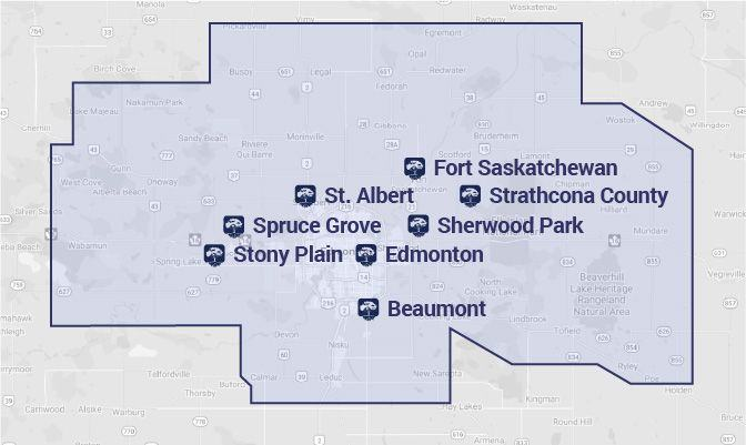 Map of Service Areas
